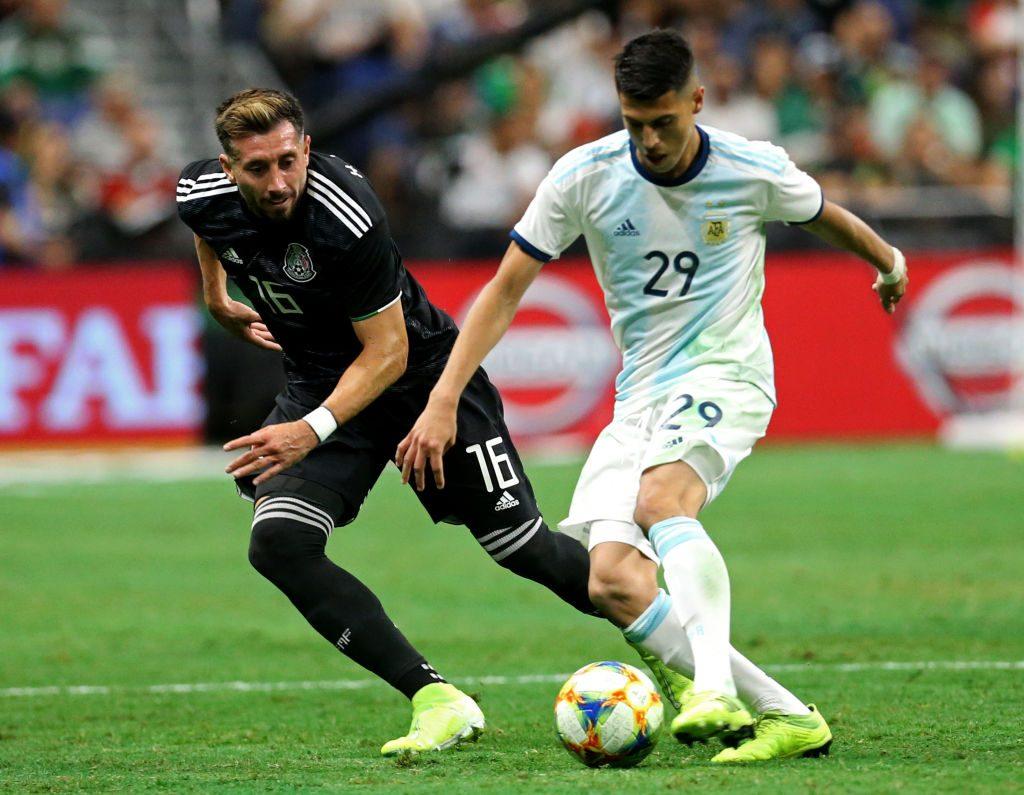 Argentina goleo a Mexico por 4 - 0 en apenas 45 minutos.