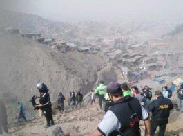 Desalojo en la zona Z de Huaycan.