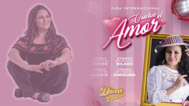 Dina Paucar se fue a Europa para cantar