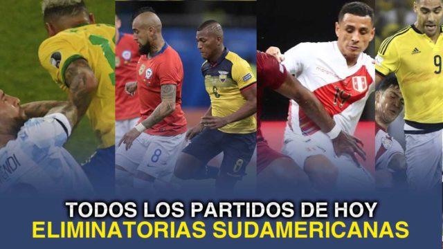 Todo los pertidos de las selecciones sudamericanas. Fecha 6 de las eliminatorias