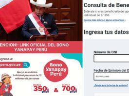 Bono Yanapay peru link oficial