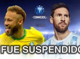 El partido entre Argentina vs Brasil fue suséndido por el arbitro